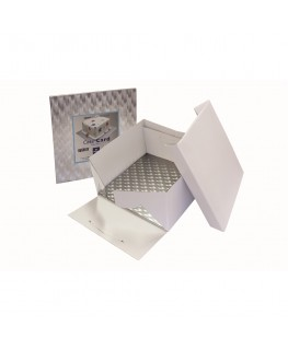 "PME 8"" Cake Box & Square Cake Card (3mm thick)"
