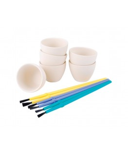 "Wilton Ceramic Candy Melting Cups & Bowls 2"" X 1 1/2"" 6pk"