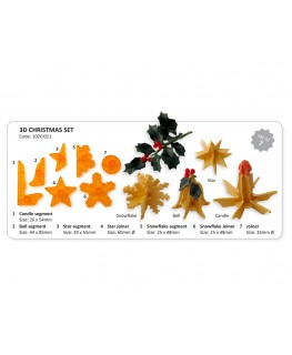 JEM 3D Christmas Cutter Set 7pc