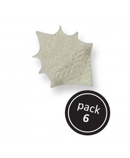 PME Pearl Holly Leaves 6pk