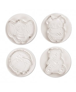 Pavoni Funny Animals Plunger Cutter Set 4pc