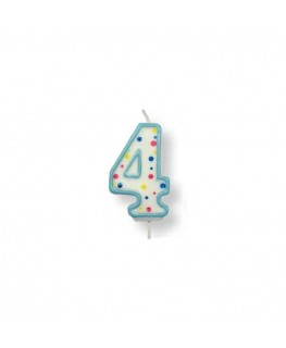 PME Large Blue Number 4 Candle (2.5')