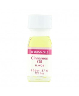 LorAnn Super Strength Cinnamon Oil, Flavor - 1 Dram (3.7ml)