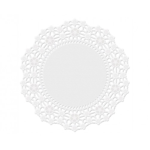 "Wilton 8"" Round Grease-Proof White Doilies 16pk"