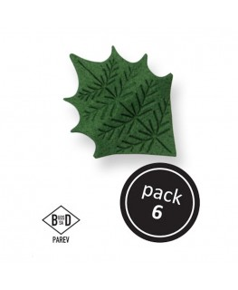 PME Green Holly Leaves 6pk