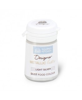 Squires Kitchen Designer Metallic Lustre Dust Light Silver 4g