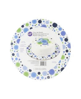 "Wilton Blue/Green Circles 12"" Round Cake Boards 3pk"