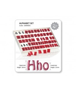 JEM Alphabet Cutter Set 64pc