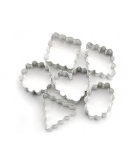 Wilton Geometric Crinkle Mini Metal Cutter Set 6pc
