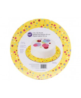 "Wilton Sweet Dots 12"" Round Cake Boards 3pk"