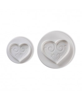 Pavoni Hearts Plunger Cutter Set 2pc