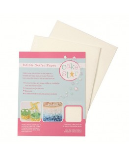 Cake Star Wafer Paper - White 12pk
