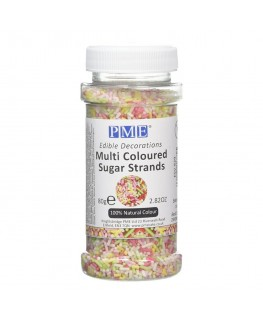 PME Multi-Coloured Sugar Strands 80g