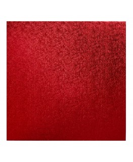 "Culpitt 10"" Square Red Cake Board"