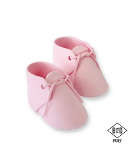 PME Edible Baby Bootee Pink Cake Topper 2pc
