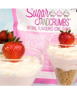 Sugar and Crumbs Strawberry Milkshake Natural Flavoured Icing Sugar 500g