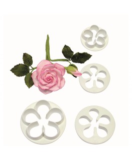 PME 5 Petal Cutter Set 4pc (30mm, 35mm, 45mm, 50mm)