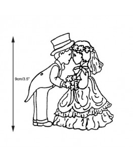 Marion Frost Patchwork Cutter Bride&Groom -