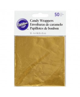 Wilton Gold Foil Candy Wrappers