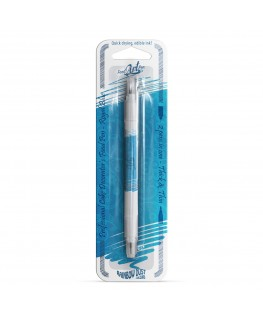 Rainbow Dust Double Sided Edible Food Pen - Royal Blue