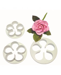 PME 5 Petal Cutter Set 3pc (57mm, 65mm, 75mm)
