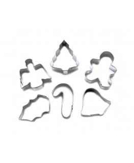 Wilton Holiday #2 Mini Metal Cookie Cutter Set 6pc