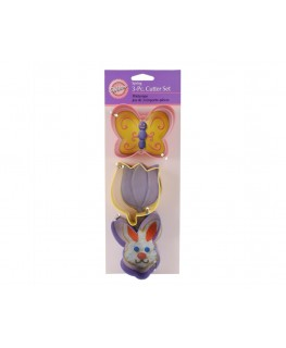Wilton Easter Colored Metal Cutter Set 3pc