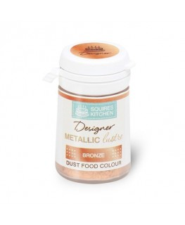 Squires Kitchen Designer Metallic Lustre Dust Bronze 5g