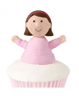 Wilton Girl Cupcake Topper 4pk