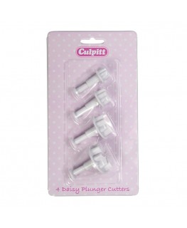 Culpitt Daisy Plunger Cutter Set 4pc