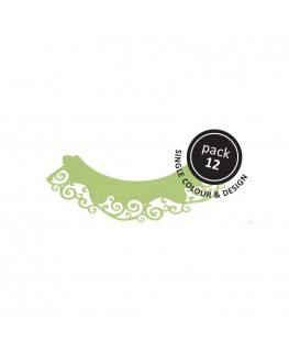 PME Swirls Cupcake Wrappers Light Green 12pk