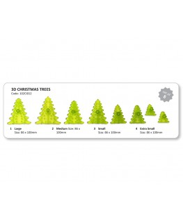 JEM 3D Christmas Tree Cutter Set 8pc