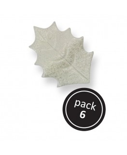PME Pearl Variegated Holly Leaves 6pk