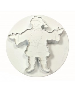 """PME Embosed Father Christmas Plunger Cutter 55mm (2 1/4"""")"""