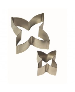 PME Daphne Flower Petal Stainless Steel Cutter Set 2pc