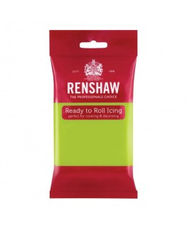 Renshaw Lime Green Ready To Roll Fondant Icing 250g