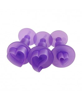 Wilton Hearts Mini Plunger Cutter Set 3pc