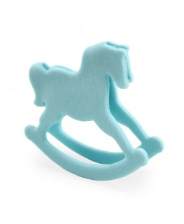 PME Handcrafted Sugar Decorations Rocking Horse Blue