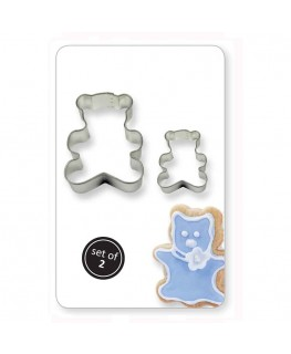 PME Cookie & Cake Teddy Cutter 2pc