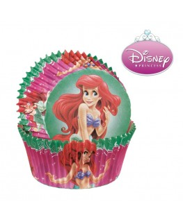 Wilton Disney Princess Ariel Standard Cupcake Cases 50pk