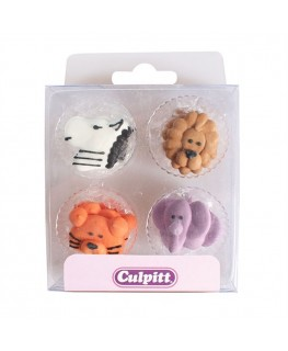 Culpitt Animals Faces Sugar Pipings 12pk