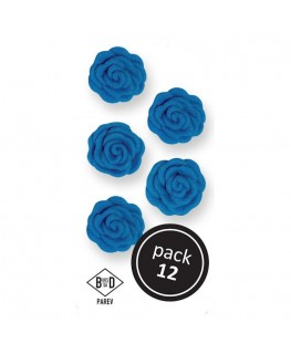 PME Blue Cupid Roses Sugar Decorations 12pk