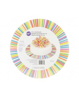 "Wilton Color Wheel 12"" Round Cake Boards 3pk"