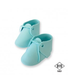 PME Edible Baby Bootee Blue Cake Topper 2pc