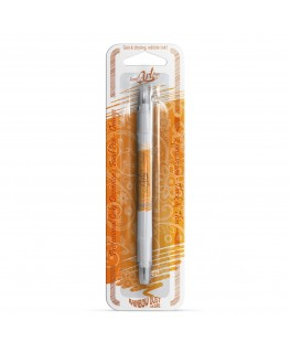 Rainbow Dust Double Sided Edible Food Pen - Orange