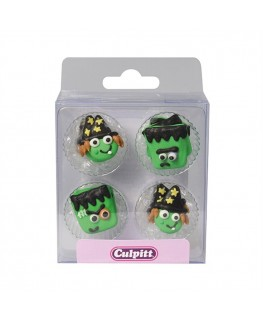 Culpitt Monster & Witch Faces Sugar Pipings 12pk