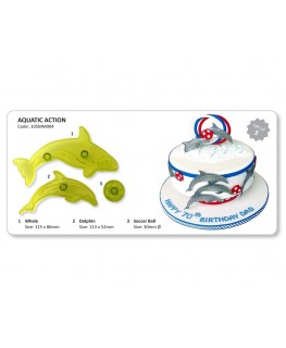 JEM Dolphin & Whale Cutter Set 2pc