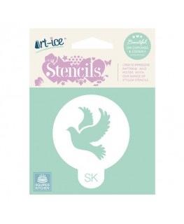 Squires Kitchen Art-ice Stencil Round Celebration Dove