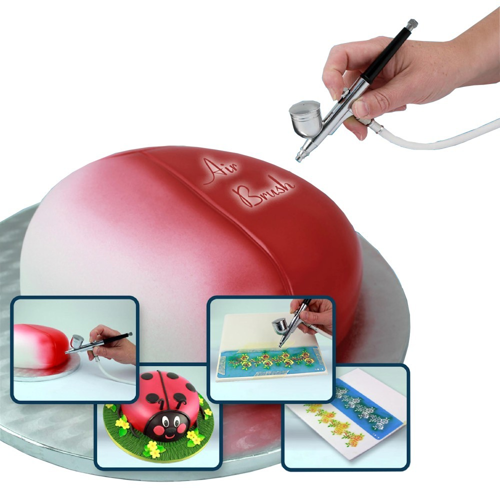 Pme airbrush and compressor kit for Airbrush cake decoration