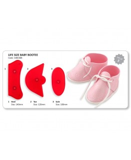 JEM Life Size Baby Bootee Cutter Set 3pc
